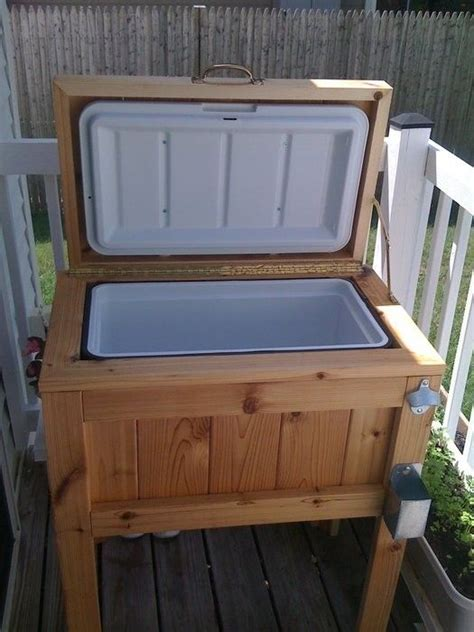Deck cooler cooler stand and diy patio on pinterest