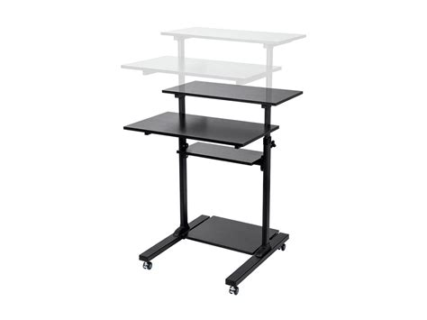 monoprice sit stand desk monoprice height adjustable pc workstation cart for sit