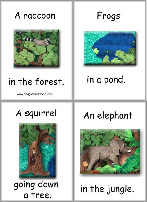 printable animal habitat cards flashcards animal habitat cards for esl