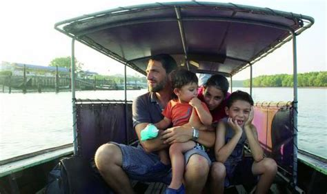word whizzle traveling by boat three families take their kids back packing around the