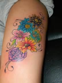 Flower Tattoo Pictures - flower tattoo on thigh by craigwright on deviantart