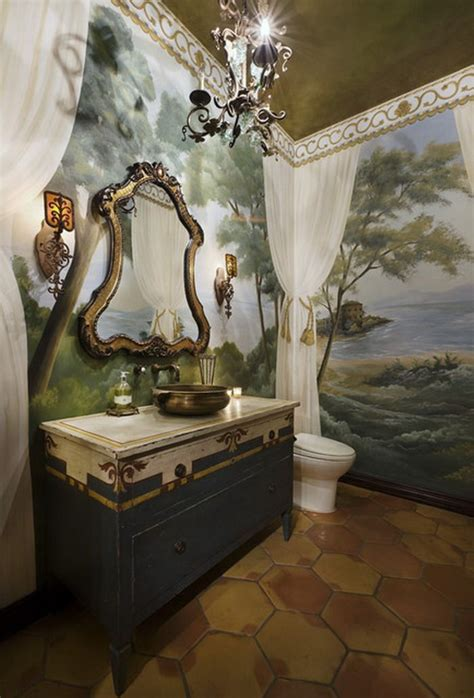 mediterranean bathroom wall murals ideas inspirace