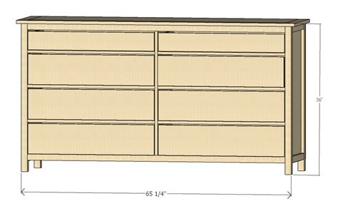 diy dresser plans ana white shaker style dresser plan diy projects
