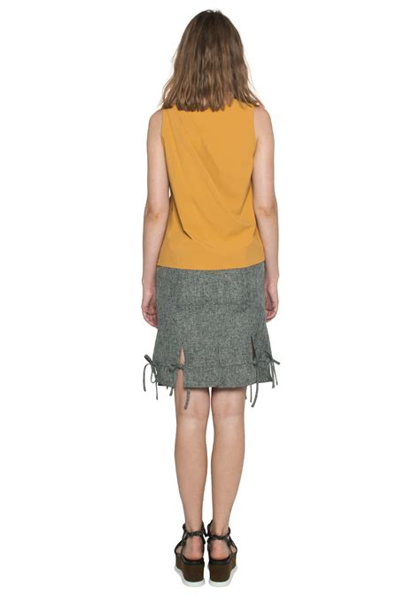 Slit Ribbon by Ribbon Slit Skirt Ellysage