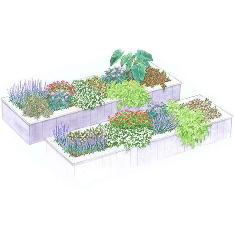 planning a flower garden layout raised beds garden plan