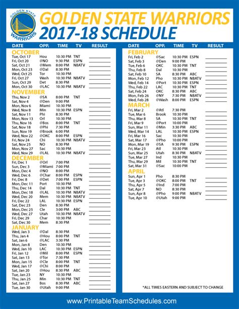 printable team schedules nfl mlb nba nhl