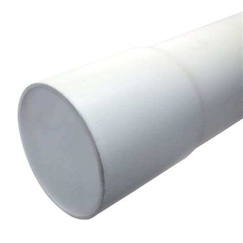 jm eagle 4 in x 10 ft pvc belled end gravity white sewer