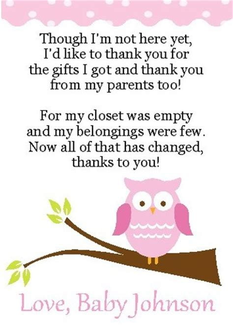 free printable owl thank you cards 2 adorable owl baby shower thank you cards ebay baby