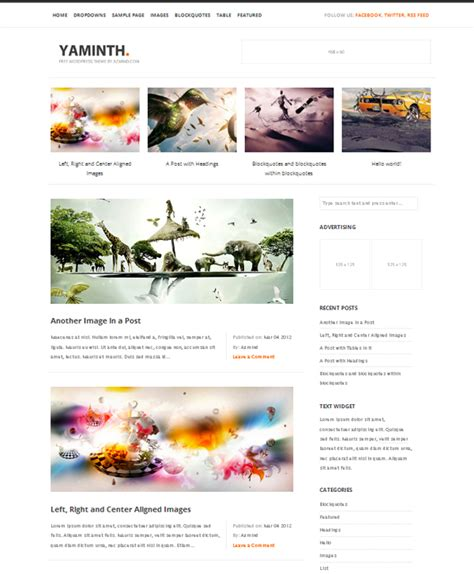 wordpress theme liquid layout 25 latest free wordpress themes creativeoverflow