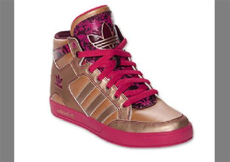 shoes adidas high tops high wear buy pink gold wheretoget