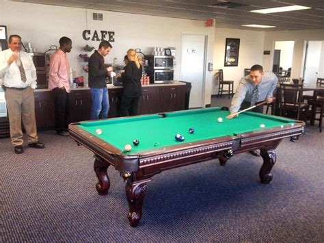 Office Pool by Pool Table At Center David Lewis