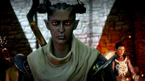 dragon age inquisition intro female qunari mage youtube
