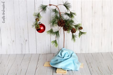 diy charlie brown christmas tree tutorial consumer crafts