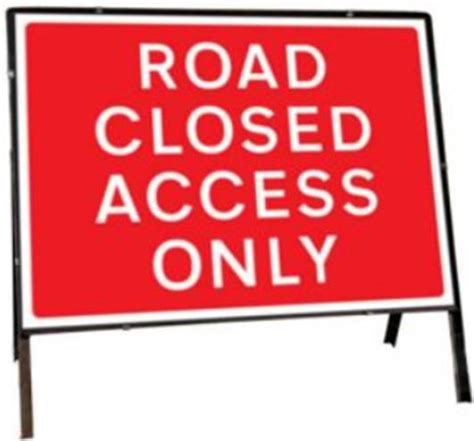 printable road closed signs road closed access only temporary road sign ssp print