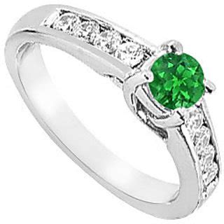 buy high class emerald engagement ring with aaa