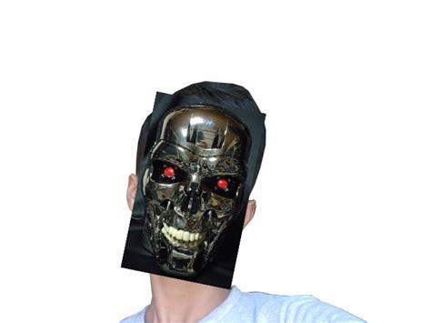 cara membuat wajah robot membuat efek terminator pada wajah di photoshop squadboy