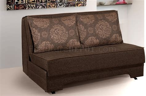 loveseat with pullout bed rio pull out loveseat bed in brown fabric by rain