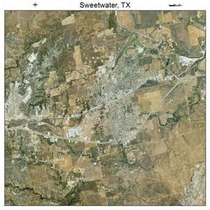 aerial photography map of sweetwater tx