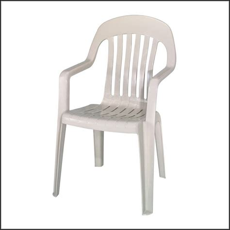 Furniture: Stackable Plastic Chair White Outdoor Stackable