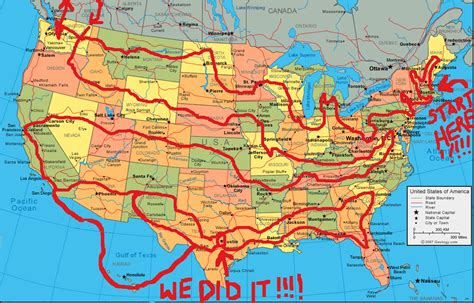 picture of united states road map all 50 states list road trips 50
