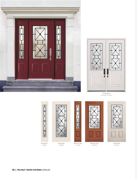 Steel Fiberglass Front Door Systems Trutech 058 Eurostar Front Door System