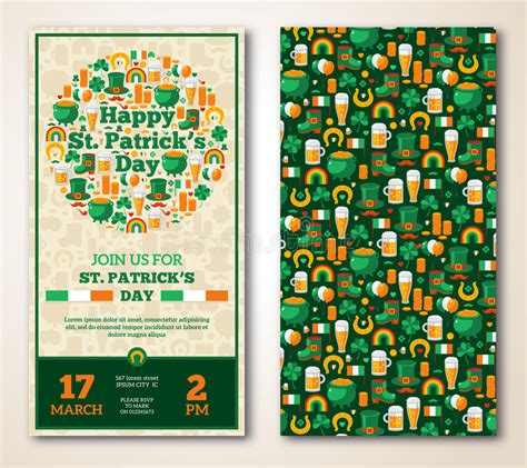 vintage st template set of vintage happy st s day greeting stock