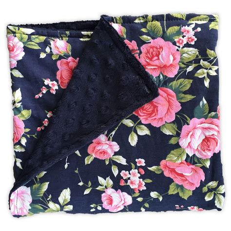 Navy Black Flower Mix 212 best images about blankets on see more