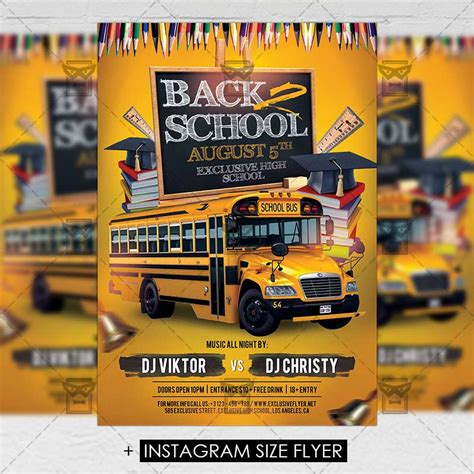 Back To School Template Flyer back 2 school premium a5 flyer template exclsiveflyer