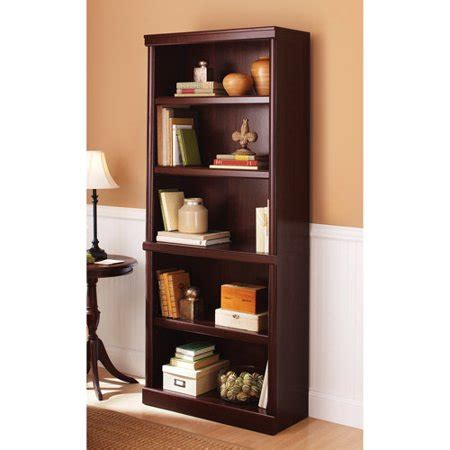 book shelves walmart better homes and gardens ashwood road 5 shelf bookcase finishes walmart