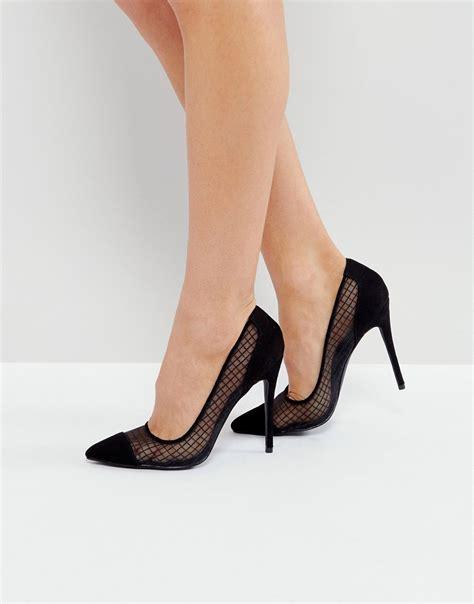 high heel shopping desire black mesh heeled court shoes times uk