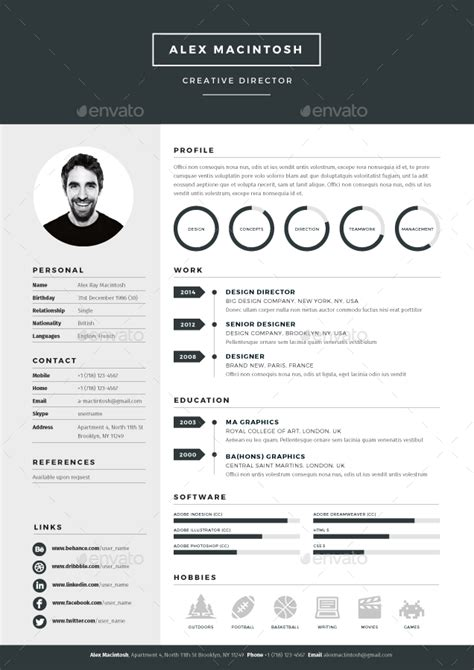 envato resume templates mono resume by ikonome graphicriver
