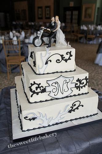 black and white harley wedding cake the and grooms m flickr