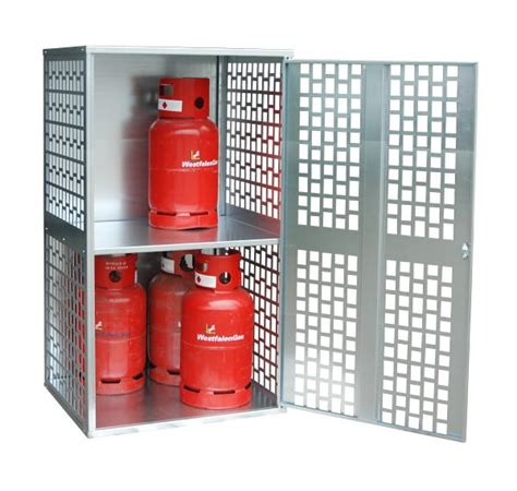 Gas Bottle Storage Cabinet 10 X 11kg Perforated Solid Gas Cylinder Cabinet
