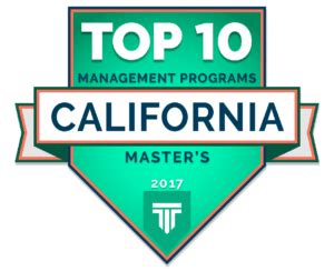 Top 10 Mba Programs 2017 by Top 10 Master S In Management Programs In California 2017