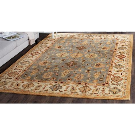 10 x 13 blue ivory rug safavieh antiquity blue ivory 9 ft 6 in x 13 ft 6 in