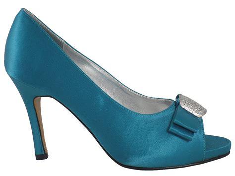 teal wedding shoes new womens teal satin bridal wedding shoes sizes 3 8 ebay