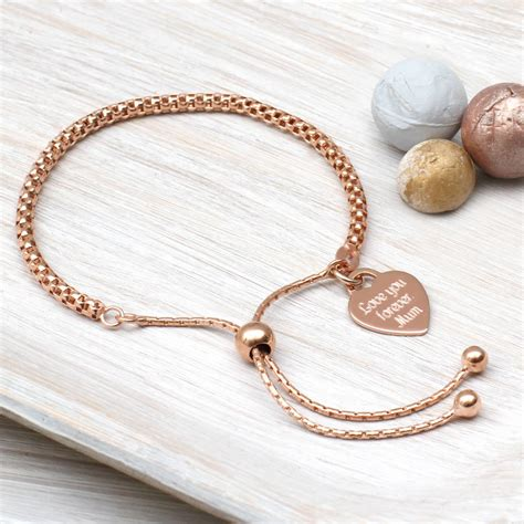 rose gold personalised rose gold friendship bracelet by hurleyburley