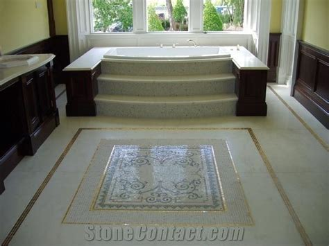 Bath Centrepiece Mosaic Flooring, Bathtub from Ireland