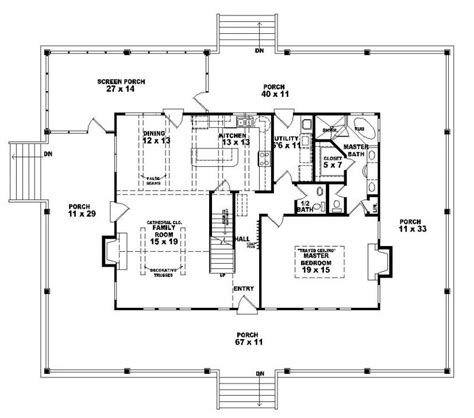 654063 One And A Half Story 3 Bedroom 2 5 Bath Country Style House Plan House