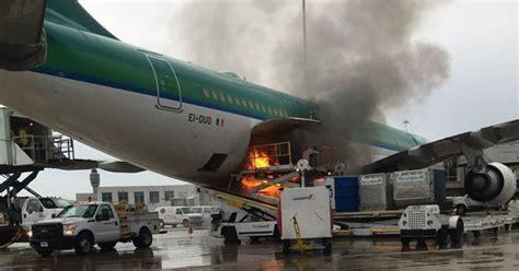 horror moment aer lingus plane on runway