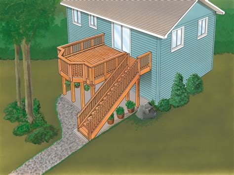 sackston ridge split level deck plan 064d 3007 house