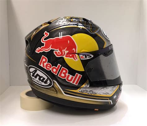 Helm Arai Motogp racing helmets garage arai d pedrosa winter test sepang