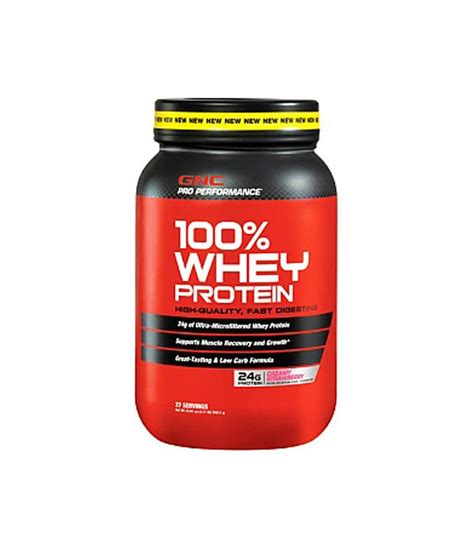Whey Gnc Gnc Pro Performance 100 Whey Protein Strawberry