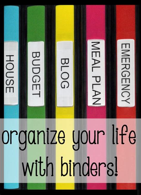 home organization binder getting organized budget binder and organize your life on