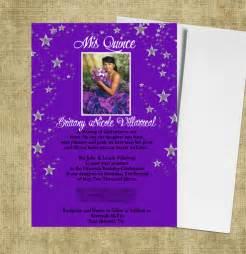 invitations for quinceaneras purple quinceanera invitations