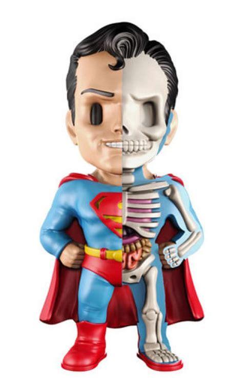 Mighty Jaxx Superman Monochrome leaked dc comics xxray golden age wave 1 x jason freeny x mighty jaxx youbentmywookie