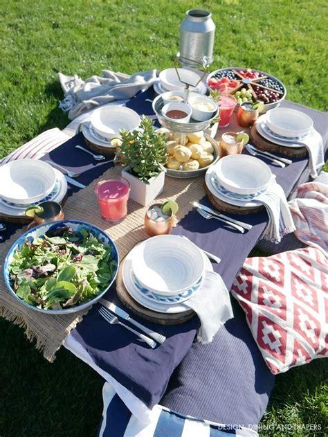 backyard table setting summer entertaining tips