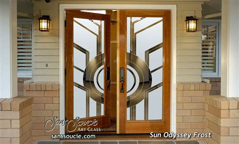 deco front door sun odyssey etched glass front doors deco design