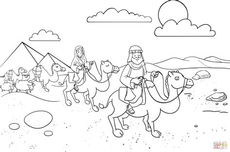 bible coloring pages abraham and sarah abram sarai leaving egypt coloring page free printable