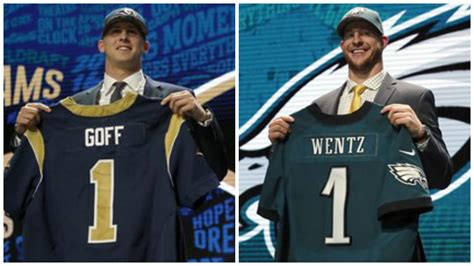 qb s jared goff and carson wentz selected 1 2 in nfl draft tough for laremy tunsil news